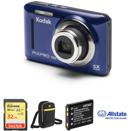 Kodak PIXPRO FZ53 Digital Camera Deluxe Kit (Blue)