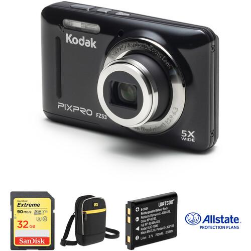Kodak PIXPRO FZ53 Digital Camera Deluxe Kit (Black)