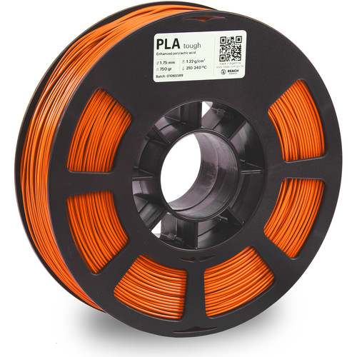 Kodak 1.75mm PLA Tough Filament (750g, Orange)