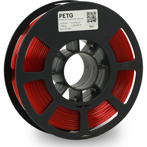 Kodak 1.75mm PETG Filament (750g, Translucent Red)