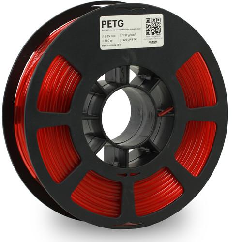 Kodak 2.85mm PETG Filament (750g, Translucent Red)