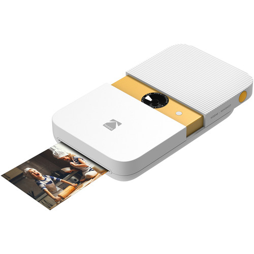 Kodak Smile Instant Print Digital Camera (White/Yellow)