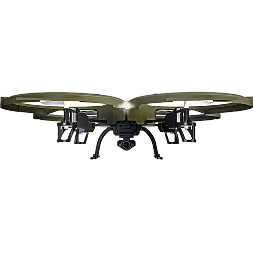 Kolibri U818A Discovery Delta-Recon Tactical Edition Wi-Fi Quadcopter with 720p HD Camera (Military Matte Green)