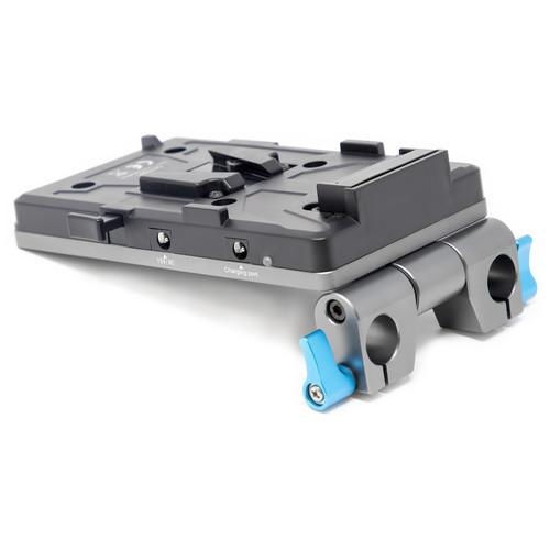 Kondor Blue Cine Battery Plate with 15mm Rod Clamp (V-Mount)