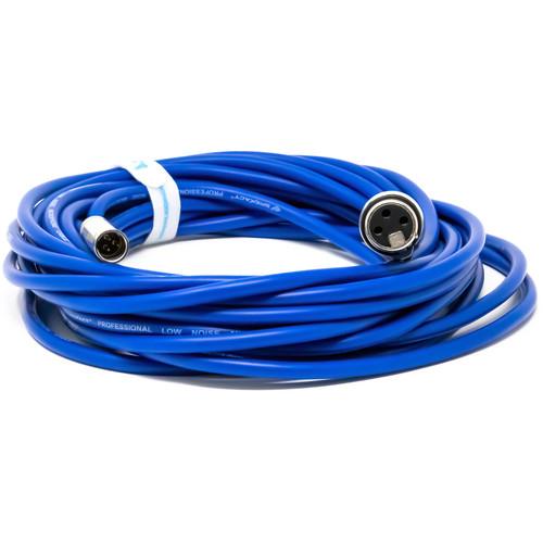 Kondor Blue Mini XLR Male to XLR Female Audio Cable for BMD Pocket 4K/6K Camera & Video Assist 4K (25')