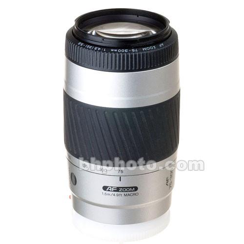 Konica Minolta Zoom Telephoto AF 75-300mm f/4.5-5.6 II Autofocus Lens - Silver
