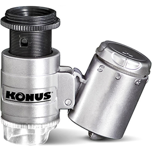 Konus KONUSCLIP-2 20x Pocket Microscope for Smartphones (6-Piece Set)