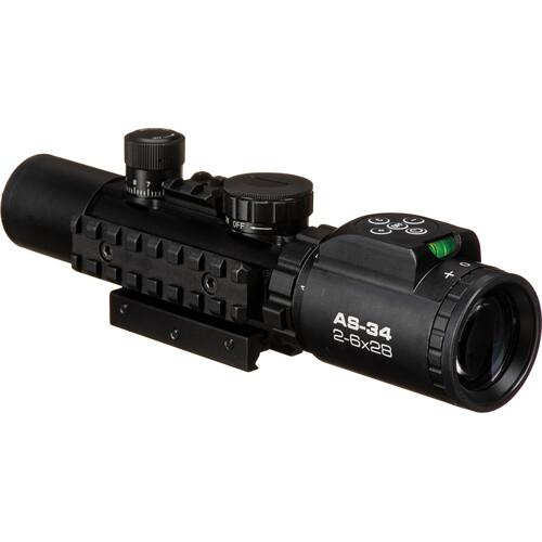Konus 2-6x28 KonusPro AS-34 Riflescope (Mil-Dot Illuminated Reticle, Matte Black)