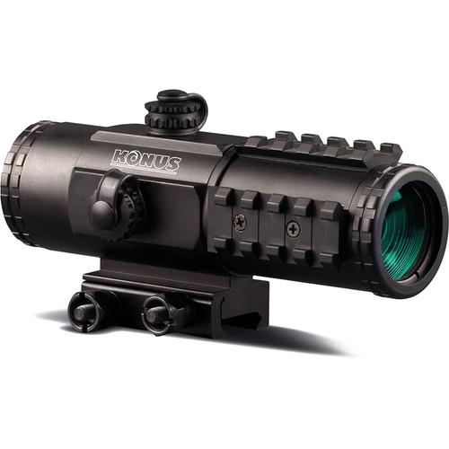 Konus 3x30 SightPro-PTS2 Prism Sight (Red-Blue Illuminated Reticle, Matte Black)