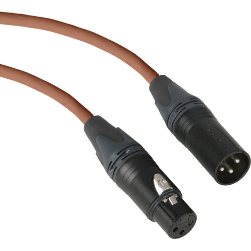 Kopul Premium Performance 3000 Series XLR M to XLR F Microphone Cable - 1.5' (0.45 m), Brown