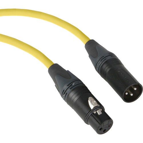Kopul Premium Performance 3000 Series XLR M to XLR F Microphone Cable - 50' (15.2 m), Yellow
