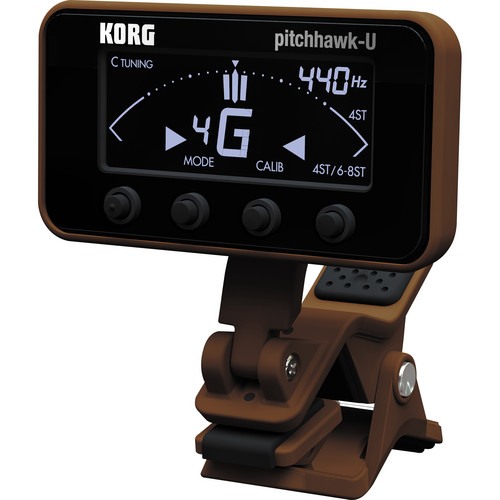 Korg PitchHawk Clip-On Tuner for Ukulele (Black)