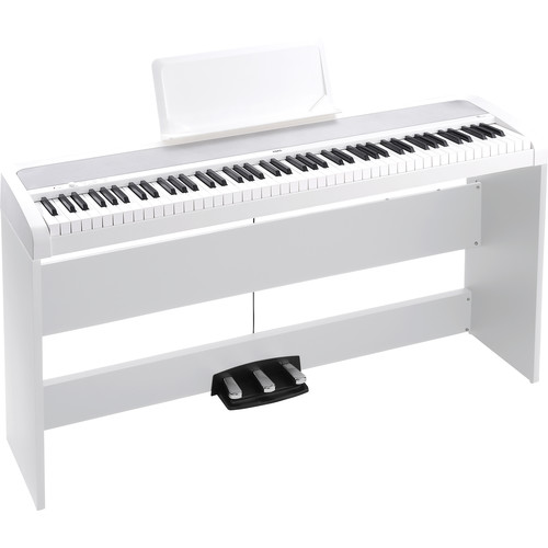 Korg B1SP Digital Piano with Stand and Pedalboard (White)