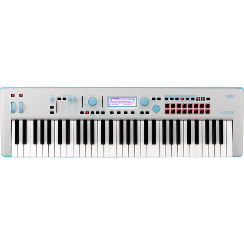 Korg Kross 2 61-Key Synthesizer Workstation (Gray/Neon-Blue, Limited Edition)