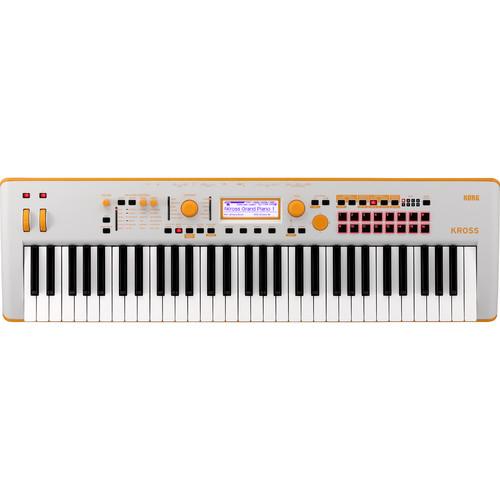 Korg KROSS 2 61-Key Synthesizer Workstation (Gray/Neon-Orange, Limited Edition)