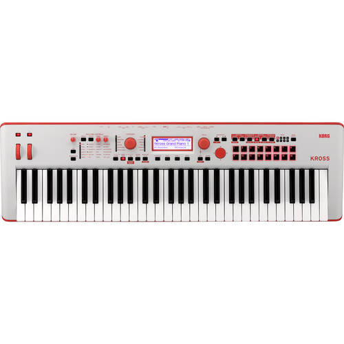 Korg Kross 2 61-Key Synthesizer Workstation (Gray/Neon-Red, Limited Edition)