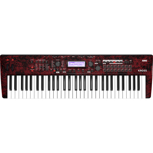 Korg Kross 2 61-Key Synthesizer Workstation (Red Marble)