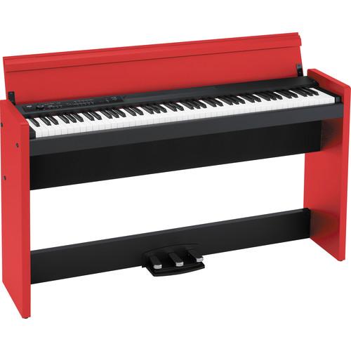 korg lp 380 88 key digital piano red black lp380bkr b h. Black Bedroom Furniture Sets. Home Design Ideas