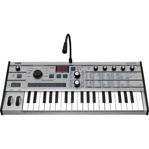Korg microKORG PT 37-Key Synthesizer and Vocoder (Limited Edition Platinum)