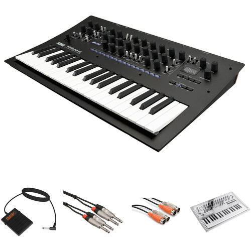 Korg Minilogue XD Polyphonic Analog Synthesizer Kit with Cover and Cable Accessories