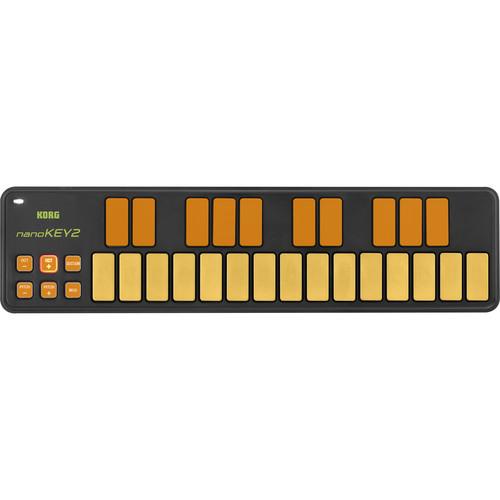 Korg nanoKEY2 Limited Edition Slim-Line USB MIDI Controller (Orange/Green)