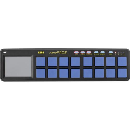 Korg nanoPAD2 Limited Edition Slimline USB MIDI Controller (Blue/Yellow)