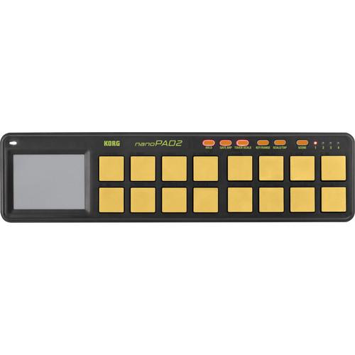 Korg nanoPAD2 Limited Edition Slim-Line USB MIDI Controller (Orange/Green)