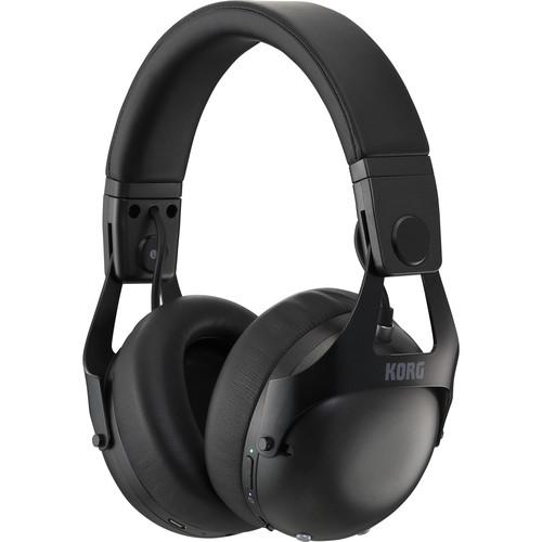 Korg NCQ1 Smart Noise-Canceling DJ Headphones with Bluetooth (Black)