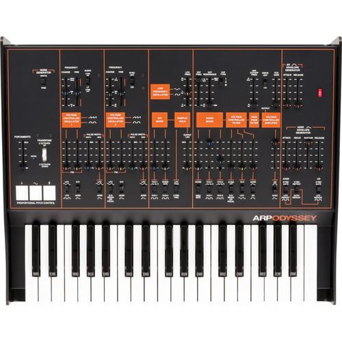 Korg ARP Odyssey FS Analog Synthesizer with Full-Sized Keys (Black/Orange)