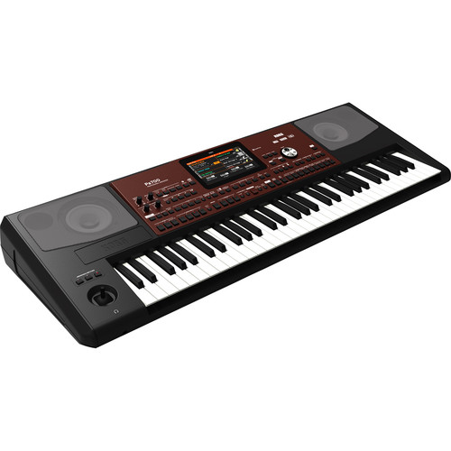 Korg Pa700 61-Key Professional Arranger with Touchscreen and Speakers (Black / Dark Red)