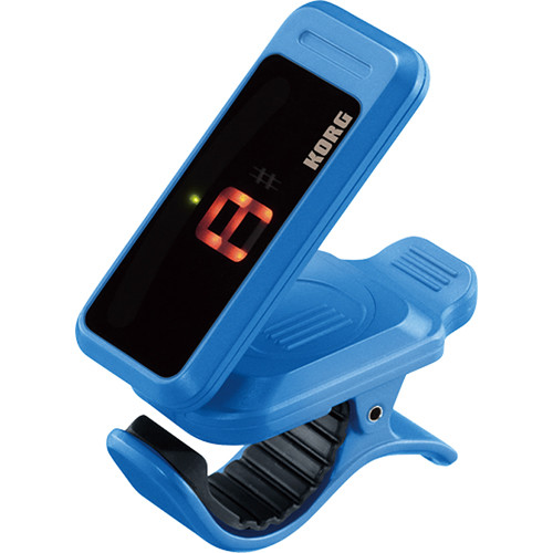 Korg Pitchclip Clip-On Canned Tuner for Guitar/Bass (Blue, Limited Edition Packaging)