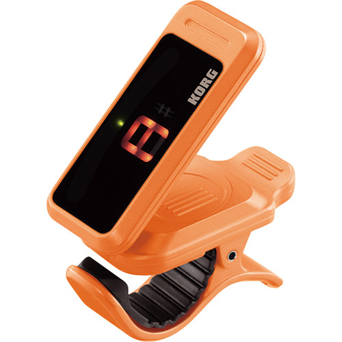 Korg Pitchclip Clip-On Canned Tuner for Guitar/Bass (Orange, Limited Edition Packaging)