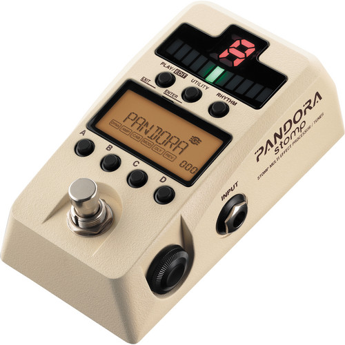 Korg Pandora Stomp Multi-Effect Processor and Tuner (Ivory)