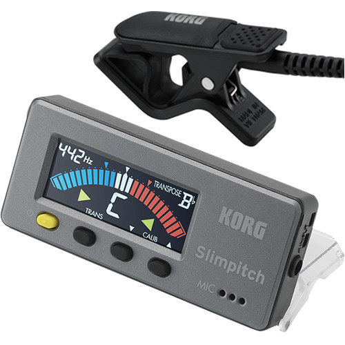 Korg Slimpitch Chromatic Tuner & Contact Microphone (Black)