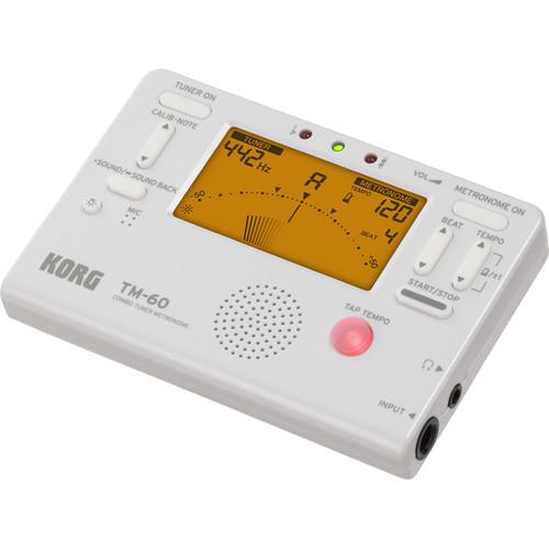 Korg TM-60 Combo Tuner Metronome (White)
