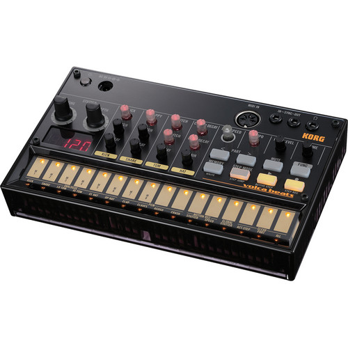 Korg Volca Beats Kit with Pocket Operator P0-14, Silicone Case, Batteries, and Audio/Sync Cable