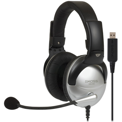 Koss SB45 USB Communication Headsets with Noise-Reduction Microphone