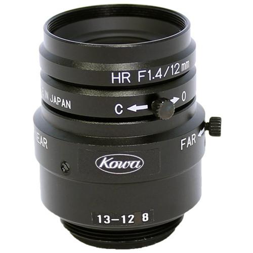"Kowa LM12JCM 2/3"" 12mm F1.4 C-Mount HD Manual Iris Fixed Focal Length Lens"