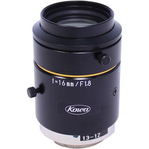 "Kowa C-Mount 16mm f/1.8-16 2/3"" 10MP JC10M Series Fixed Lens"