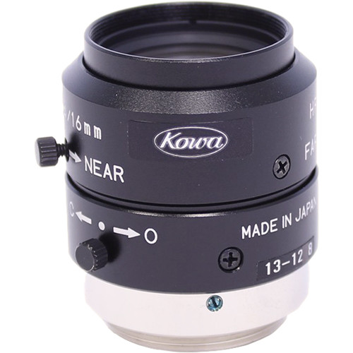 "Kowa LM16JCM 16mm f/1.4 C-Mount Lens for 2/3"" Sensors"