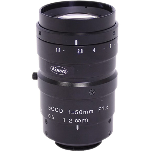 "Kowa LM50NC3 1/2"" C-Mount 50mm F/1.8 3-CCD Fixed MP Lens"