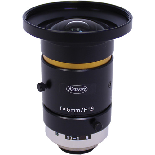 "Kowa C-Mount 5mm f/1.8-16 2/3"" 10MP JC10M Series Fixed Lens"