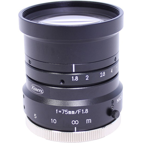 "Kowa LM75HC 1"" 75mm F1.8 Manual Iris C-Mount Lens"