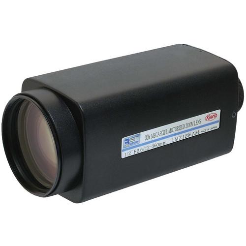"Kowa 1.8"" 12 to 360mm f/2.6 C-Mount Lens"
