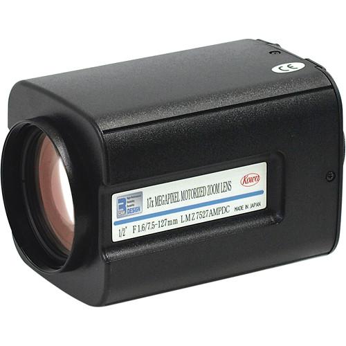 "Kowa LMZ7527AMP 1/2"" C-Mount Motorized Zoom Lens with Preset"