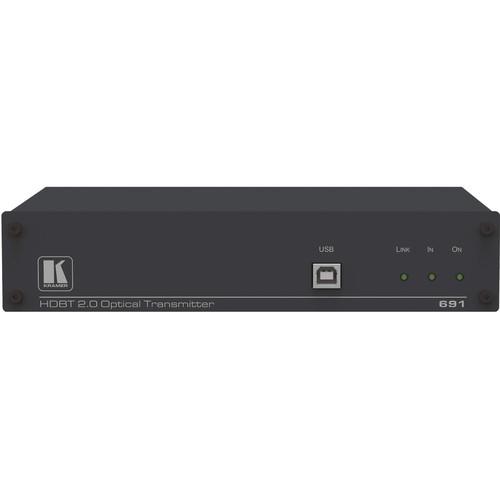 Kramer 4K60 4:2:0 HDMI Fiber Optic Transmitter with USB, Ethernet, RS-232, IR & Stereo Audio over HDBaseT
