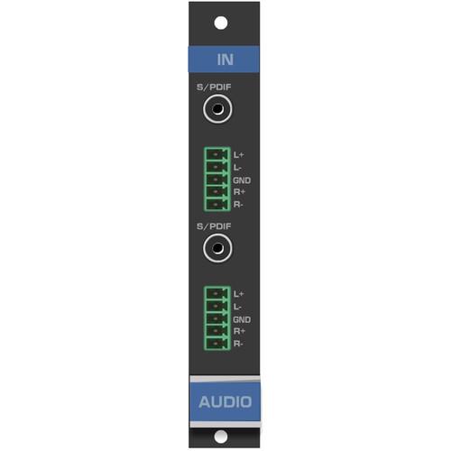 Kramer 2-Input Analog & Digital Audio Card for VS-1616D Matrix Switcher (F-16)