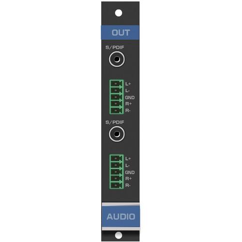 Kramer 2-Output Analog & Digital Audio Card for VS-1616D Matrix Switcher (F-16)