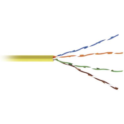 Kramer 4-Pair 24-AWG CAT5e Stranded UTP Cable (1000', Yellow)