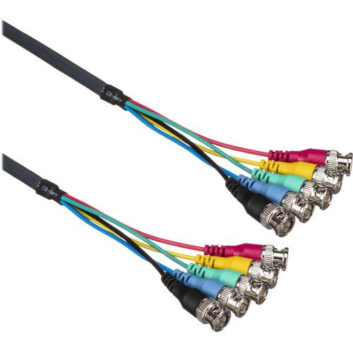 Kramer 5 BNC Male RGBHV Mini Coax Cable (100')